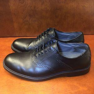 G.H. Bass & Co. Pomona Black Saddle Leather Brogue